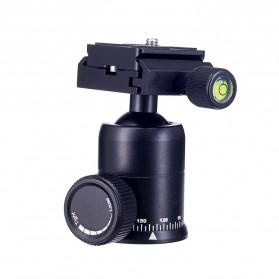 Tripod Ball Head Profesional untuk Kamera DSLR - Black - 4