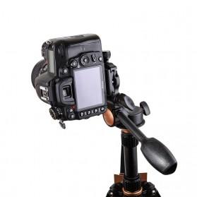 Tripod 3-Way Fluid Ball Head Quick Release Plate untuk Kamera DSLR - Q08 - Black - 2