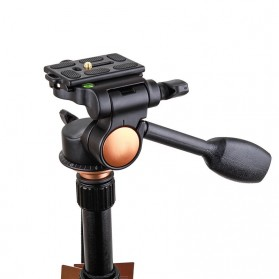 Tripod 3-Way Fluid Ball Head Quick Release Plate untuk Kamera DSLR - Q08 - Black - 4