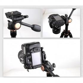 Tripod 3-Way Fluid Ball Head Quick Release Plate untuk Kamera DSLR - Q08 - Black - 6