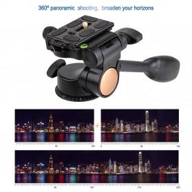 Tripod 3-Way Fluid Ball Head Quick Release Plate untuk Kamera DSLR - Q08 - Black - 7