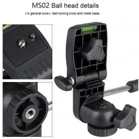 Bexin Tripod Mini 3 Way Portable Aluminium with Ball Head - MS02 - Black - 2