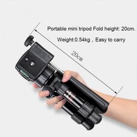 Bexin Tripod Mini 3 Way Portable Aluminium with Ball Head - MS02 - Black - 5