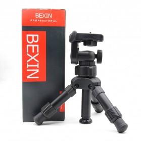 Bexin Tripod Mini 3 Way Portable Aluminium with Ball Head - MS02 - Black - 7