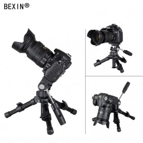 Bexin Tripod Mini 2 Way Portable Aluminium with Ball Head - MS16 - Black - 3