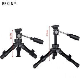 Bexin Tripod Mini 2 Way Portable Aluminium with Ball Head - MS16 - Black - 4