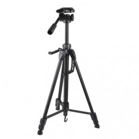 Weifeng Portable Lightweight Tripod Stand Max Height 1.5m - WT-3730 - Black