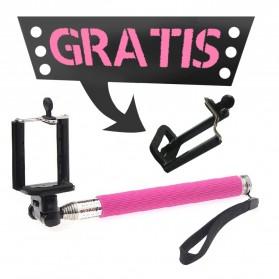 Paket Narsis 2 (Tongsis Z07-1 + Universal Clamp SC-M) - Pink