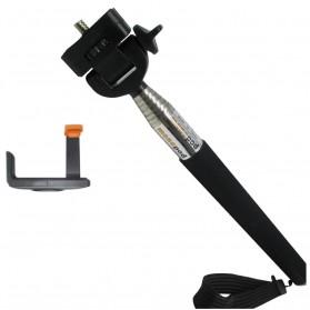Paket Narsis 5 (Tongsis Z07-1 + Universal L Clamp Orange Flip) - Black
