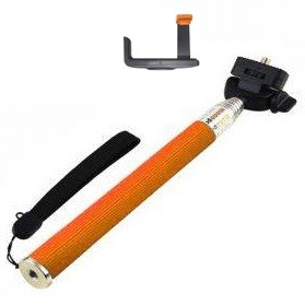 Paket Narsis 5 (Tongsis Z07-1 + Universal L Clamp Orange Flip) - Orange