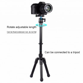 PULUZ Handheld Monopod  3/8 Screw for DSLR - Black - 3