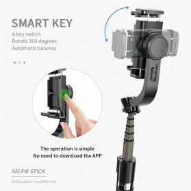 Cafele Tongsis Gimbal Stabilizer Selfie Stick Tripod Smartphone Handheld with Remote - L08 - Black - 3