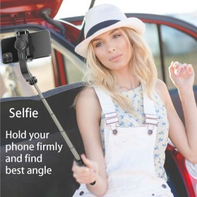 Cafele Tongsis Gimbal Stabilizer Selfie Stick Tripod Smartphone Handheld with Remote - L08 - Black - 5