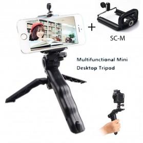 Taffware Mini Foldable Tripod Stand + Smartphone Clamp - CP-GP264 - Black
