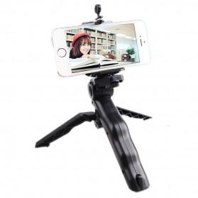 Taffware Mini Foldable Tripod Stand + Smartphone Universal Clamp Holder L - CP-GP264 - Black