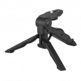 Taffware Mini Foldable Tripod Stand + Smartphone Universal Clamp Holder L - CP-GP264 - Black - 3