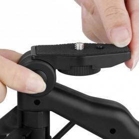 Taffware Mini Foldable Tripod Stand + Smartphone Universal Clamp Holder L - CP-GP264 - Black - 5