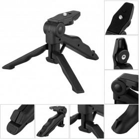 Taffware Mini Foldable Tripod Stand + Smartphone Universal Clamp Holder L - CP-GP264 - Black - 6