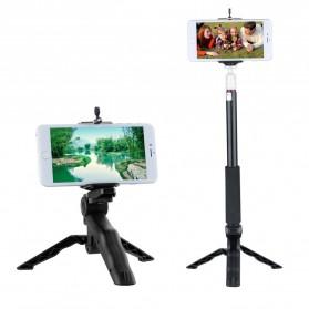 Taffware Mini Foldable Tripod Stand + Smartphone Universal Clamp Holder L - CP-GP264 - Black - 9