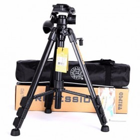 QingZhuangShiDai Professional DSLR Tripod Portable Travel - Q111 - Black