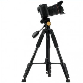 QingZhuangShiDai Professional DSLR Tripod Portable Travel - Q111 - Black - 2