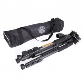 QingZhuangShiDai Professional DSLR Tripod Portable Travel - Q111 - Black - 6