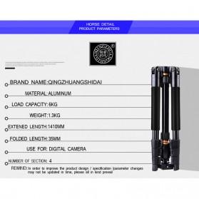 QZSD Multifunction Professional DSLR Tripod + Monopod - Q555 - Black - 7