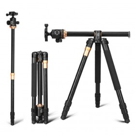 QZSD Multifunction Professional DSLR Horizontal Center Tripod + Monopod - Q999H - Black