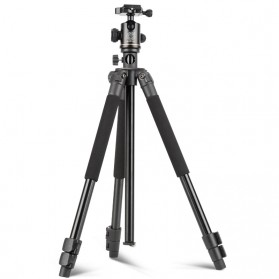 QZSD Multifunction Professional DSLR Horizontal Center Tripod - Q308H - Black