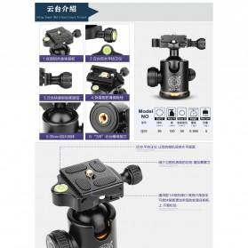 QZSD Multifunction Professional DSLR Horizontal Center Tripod - Q308H - Black - 6