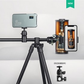 QZSD Multifunction Professional DSLR Horizontal Center Tripod - Q-202F - Black - 3