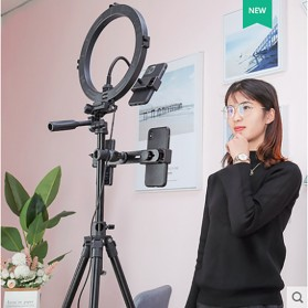 QZSD Multifunction Professional DSLR Horizontal Center Tripod - Q-202F - Black - 4