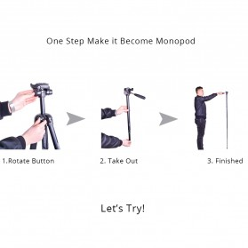 Cambofoto Professional DSLR Tripod + Monopod - SAB264 - Black - 10