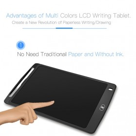 Papan Gambar Digital Monochrome LCD Drawing Graphics Tablet 10 Inch - AS1010A - Black - 3