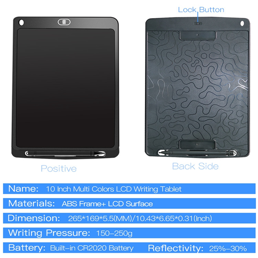 Papan Gambar Digital Monochrome LCD Drawing Graphics Tablet 10 Inch AS1010A Black JakartaNotebook
