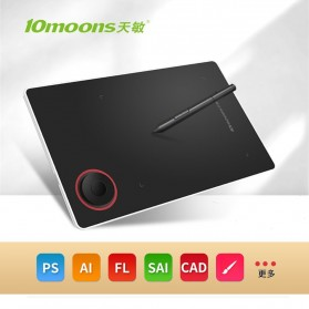 Laptop / Notebook - 10moons Graphics Digital Drawing Tablet with Stylus Pen - G50 - Black