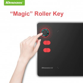 10moons Graphics Digital Drawing Tablet Roller Key with Stylus Pen - G20 - Black - 3
