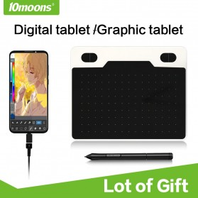 Laptop / Notebook - 10moons Graphics Digital Drawing Tablet 6 Inch with Stylus Pen - T503 - Black