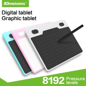 10moons Graphics Digital Drawing Tablet 6 Inch with Stylus Pen - T503 - Black - 2