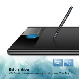XP-Pen Smart Graphics Drawing Pen Tablet 8GB Flash Memory with Passive Pen - Star 04 - Black - 4