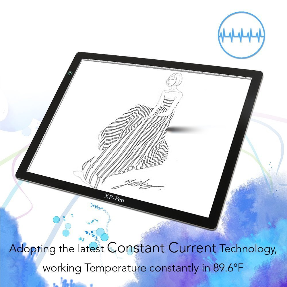XP Pen LED Tracing Light Pad Graphics Drawing Tablet A3 Paper CPA3 Black JakartaNotebook