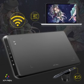 XP-Pen Wireless Smart Graphics Drawing Pen Tablet with Passive Pen - Star 05 - Black