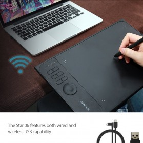 XP-Pen Wireless Smart Pen Tablet with Passive Pen - Star 06 - Black - 3