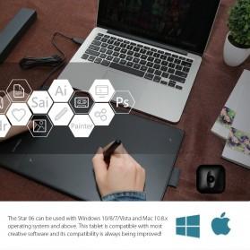 XP-Pen Wireless Smart Pen Tablet with Passive Pen - Star 06 - Black - 6