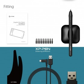 XP-Pen Wireless Smart Pen Tablet with Passive Pen - Star 06 - Black - 8