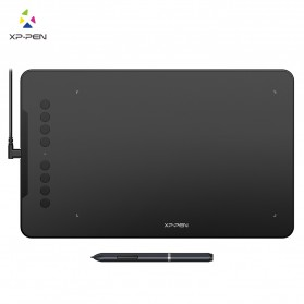 XP-Pen Deco01 Graphics Digital Drawing Tablet with P03 Passive Pen - Black