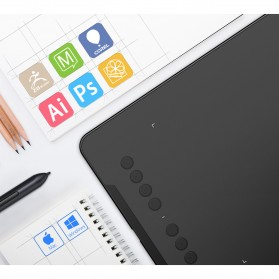 XP-Pen Deco01 Graphics Digital Drawing Tablet with P03 Passive Pen - Black - 7