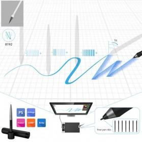 XP-Pen Deco Pro Medium Graphics Digital Drawing Tablet with Passive Pen - Black - 3