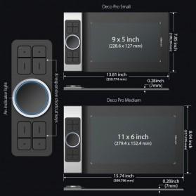 XP-Pen Deco Pro Medium Graphics Digital Drawing Tablet with Passive Pen - Black - 4