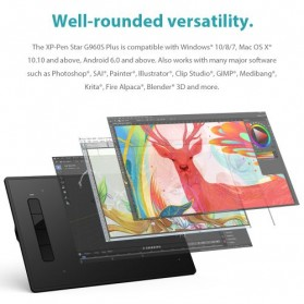 XP-Pen Star G960S Graphics Digital Drawing Tablet with PH3 Passive Pen - Black - 7